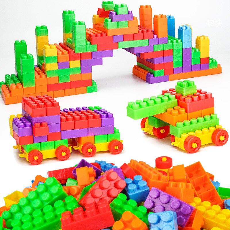 72pcs Children Creative Colorful Plastic Blocks