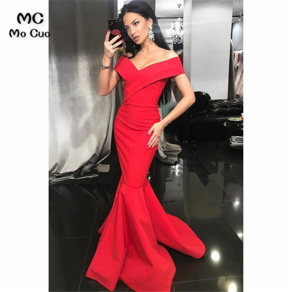 a361856dfe 🛒 [HOT SALE] | Red Beading Long Sleeve Evening Dresses Mermaid ...