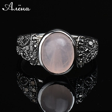 Oval Natural Onyx Stone In A Silver Ring