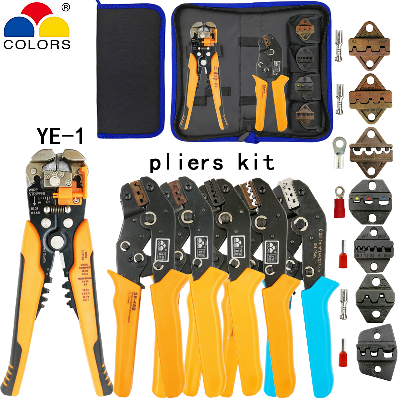 Kit crimping tools SN-2549 SN-48B pliers jaw kit stripping wire cutters pliers for plug/tube/insulation terminals calmp toolsKit crimping tools SN-2549 SN-48B pliers jaw kit stripping wire cutters pliers for plug/tube/insulation terminals calmp tools