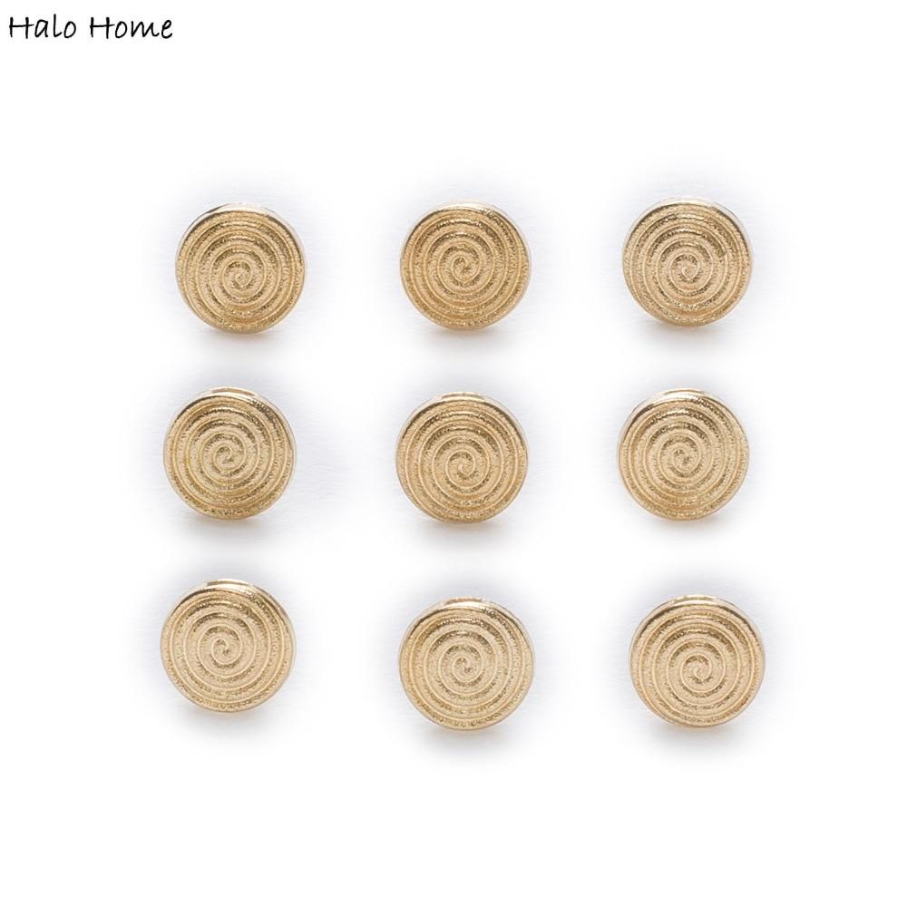 10pcs Round Rhinestone Shirt Shank Buttons Metal Button Coat Sewing Craft 10mm