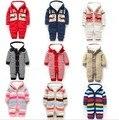 2017 Nuevos Mamelucos Del Bebé de Rayas de Manga Larga de Invierno Bebé Recién Nacido ropa de Recién Nacido Ropa de Bebé Para Las Muchachas Del Muchacho Ropa De Bebe