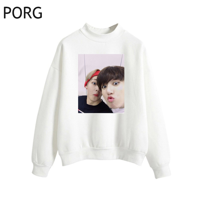 Funny Jungkook Jimin V Women Hoodies Streetwear Fashion Long Sleeve Pullover Sweatshirts Harajuku Autumn Oversized Hoodie
