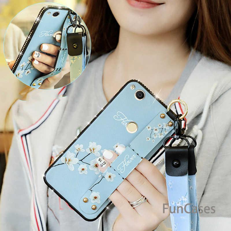 Алмазный Ретро напульсник чехол для телефона huawei Nova 4 3 3i 3e P20 Lite Pro Honor 8a 8x8 9 10 Lite тканевый мягкий + ТПУ ремешок чехол