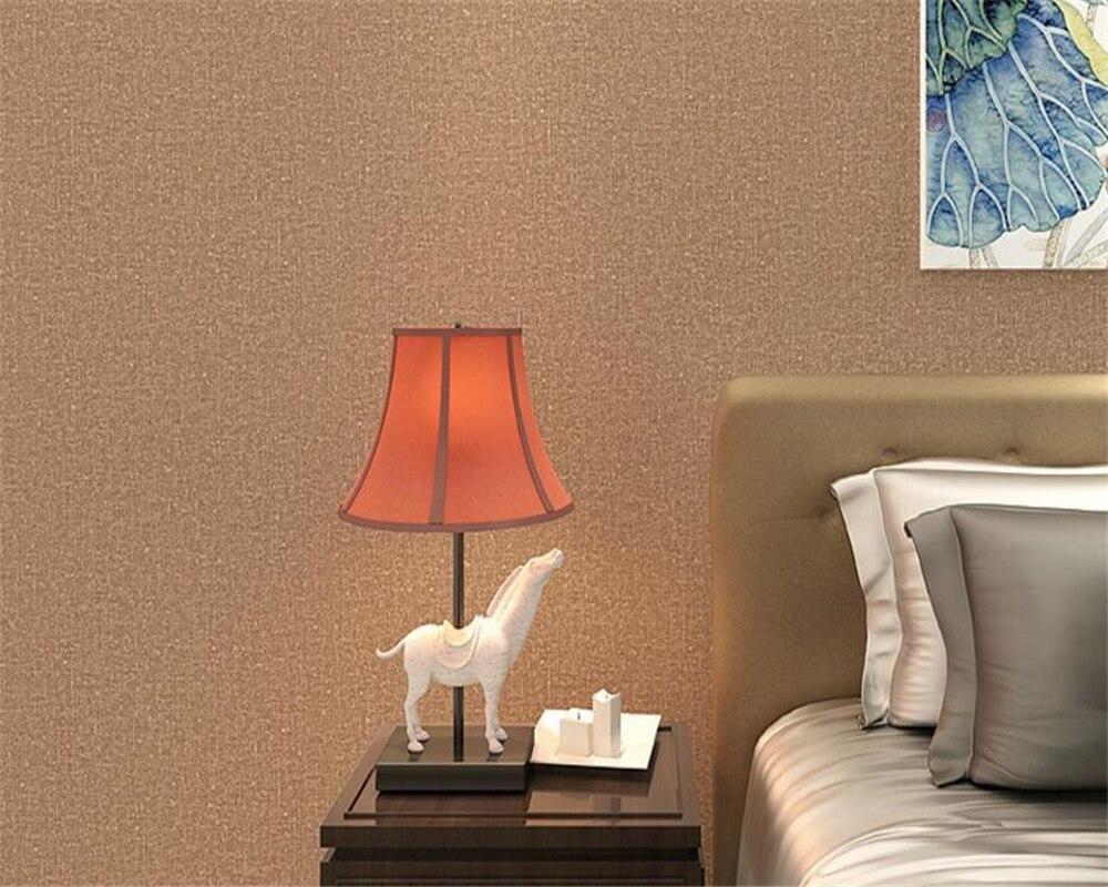 Beibehang jaune brun pur couleur 3d papier peint rouleau salon