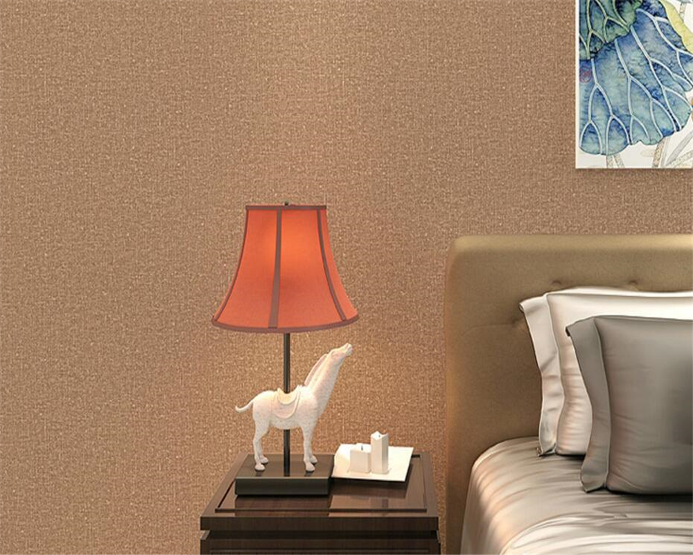 Beibehang Yellow brown Pure color 3D wallpaper roll living room TV wall wallpaper for walls 3 d Desktop bedroom 3D wallpaper beibehang american retro wallpaper roll desktop living room 3d wall paper home decor tv background green wallpaper for walls 3 d