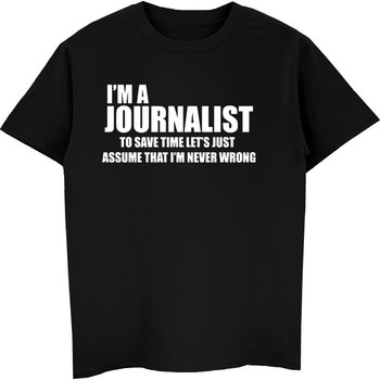 Nhà báo T-Shirt Vui Nhà Báo Tee Áo Sơ Mi Quà Tặng Cho Nhà Báo Báo Chí Tee Nam Cotton Ngắn Tay Áo Sơ Mi Mát Tees Tops