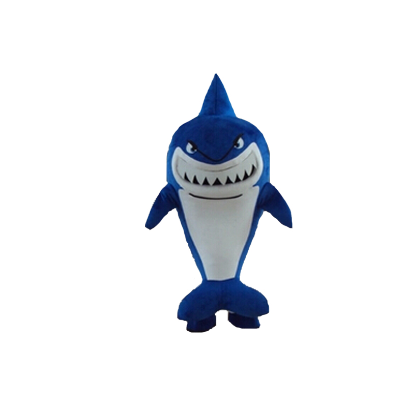 Модные дышащие женские хлопковые голубые джинсы с изображением акулы костюм для взрослых мультфильм костюм акулы талисмана с плюшевой под...
