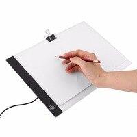 Digital Tablets A4 tamaño de papel LED artista Thin Art stencil Pizarras para dibujar arte ultra-delgada seguimiento luz escritura pad