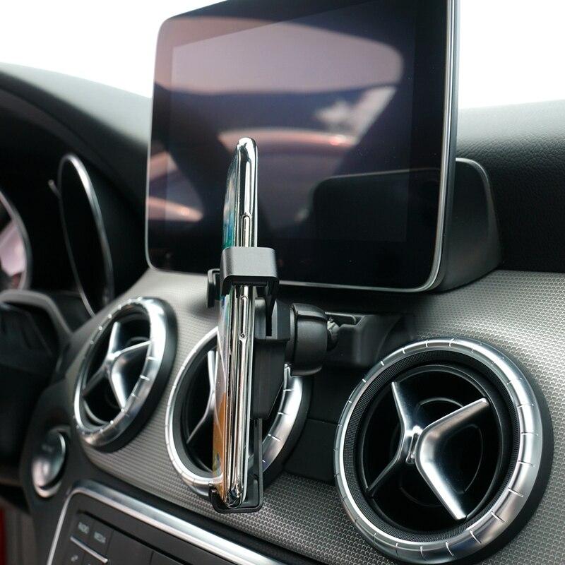 Apto para mercedes-benz gla/a classe/cla 2016-2018 estilo do carro acessórios do telefone celular celular suporte de ventilação de ar do carro montar suporte berço