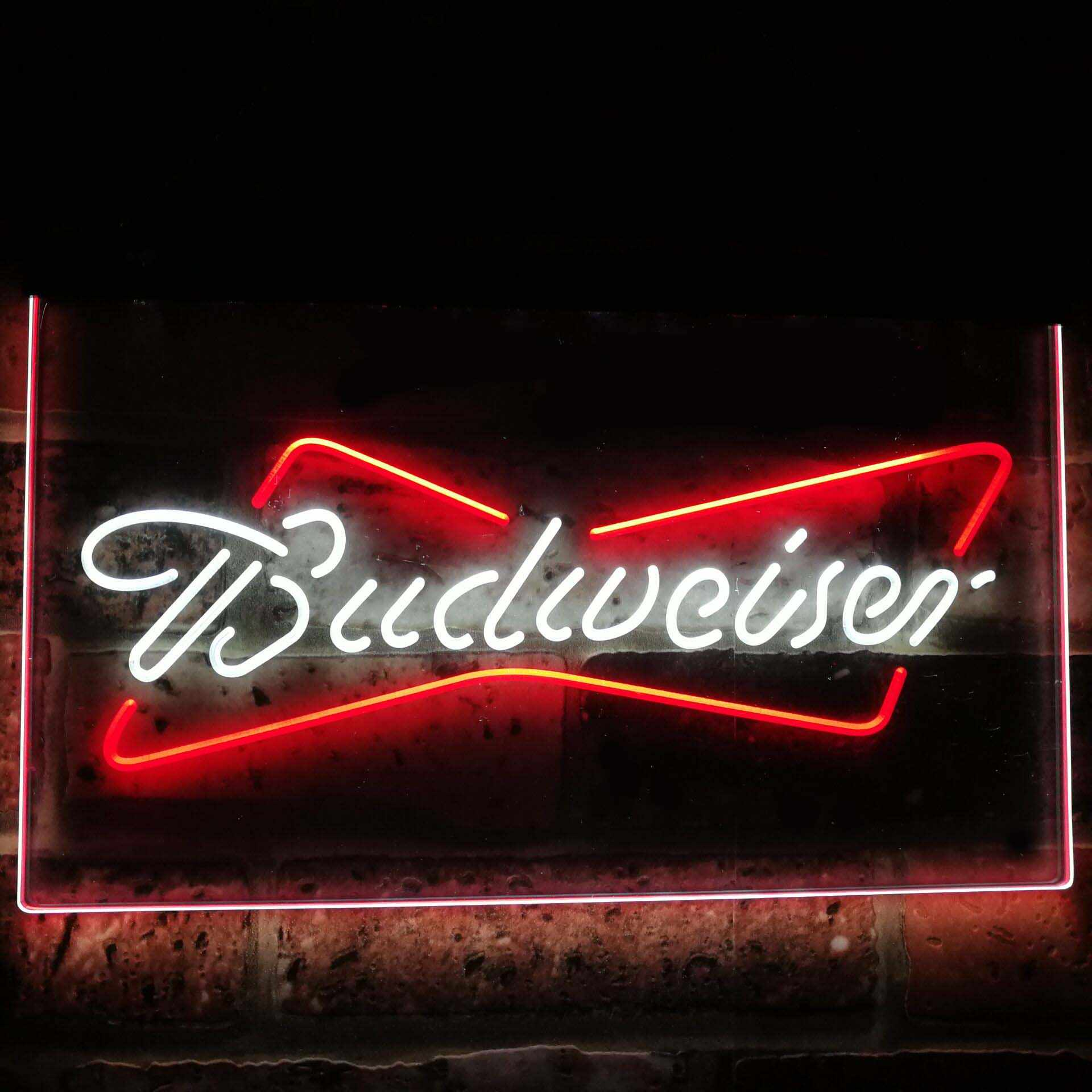 Budweiser Classic Beer Bar Decoration Gift Dual Color Led Neon Sign st6-a2009