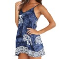 ZANZEA 2017 Summer Dress Women Fashion Sleeveless Loose Printed A-Line V Neck Short Mini Dresses Sexy Beachwear Plus Size