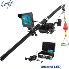 hot deal buy aluminum alloy underwater fishing video camera kit 6w infrared led lights 165 degrees fish with 4.3