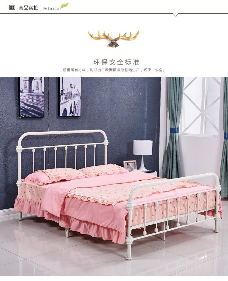 Camas Muebles para el hogar hierro cama/cama doble multicolor al por ...