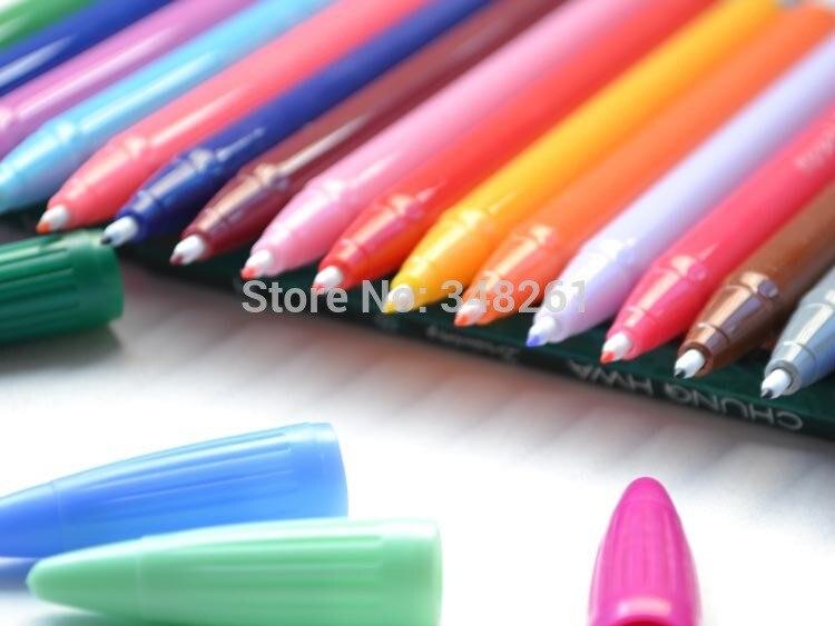 1set Korean Monami 3000 Fresh Watercolor Fine Line Pen Colorful Gel Pen Art Supplies