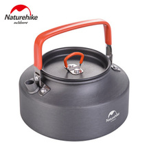 Naturehike Outdoor Camping Cookware Kettle Hiking Fishing Outdoor 1 1L Portable Kettle Picnic Hard Alumina Coffee
