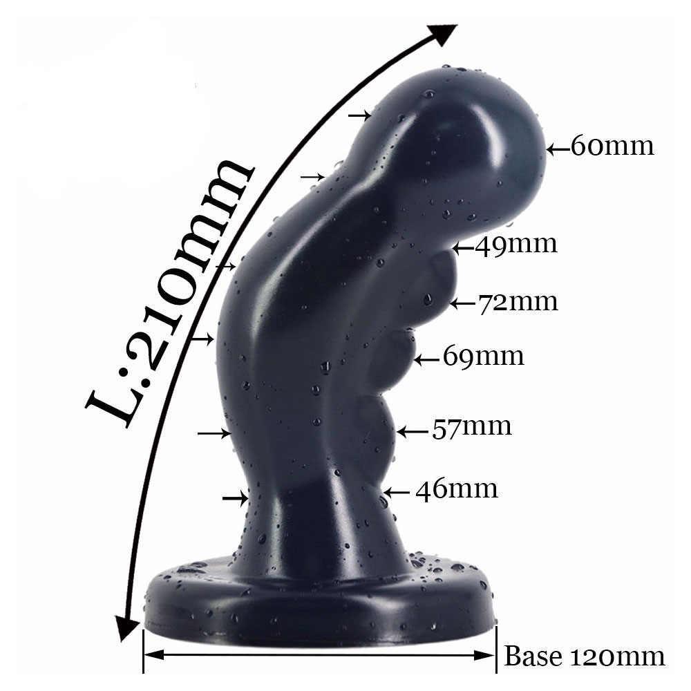 Grande Silicone Flexível Réplica Adulto Estimulador Massageador Vibradores Brinquedos para Mulheres Dos Homens Suprimentos Para Adultos