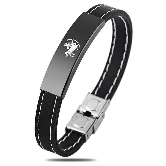 12 Zodiac Signs Stainless Steel Bracelet for Men