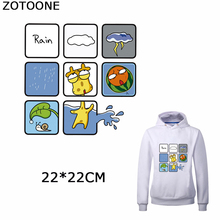 ZOTOONE Cartoon Animals Iron on Transfers Patches Clothing Cute Giraffe Applique Sticker DIY Clothes Decorations Applications