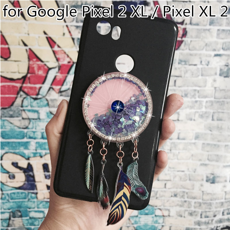 Dynamic Quicksand Phone Cases Covers For Google Pixel 2 XL / Pixel XL 2 Soft Silicone Original Back Cover Coque Funda Para Shell