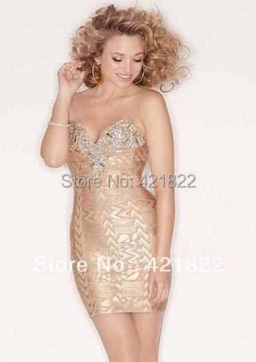 Perle Bandage Robes Femmes Arrivée De Robe Encolure Sexy Hl 2013 D'or Nouvelle qY0vS