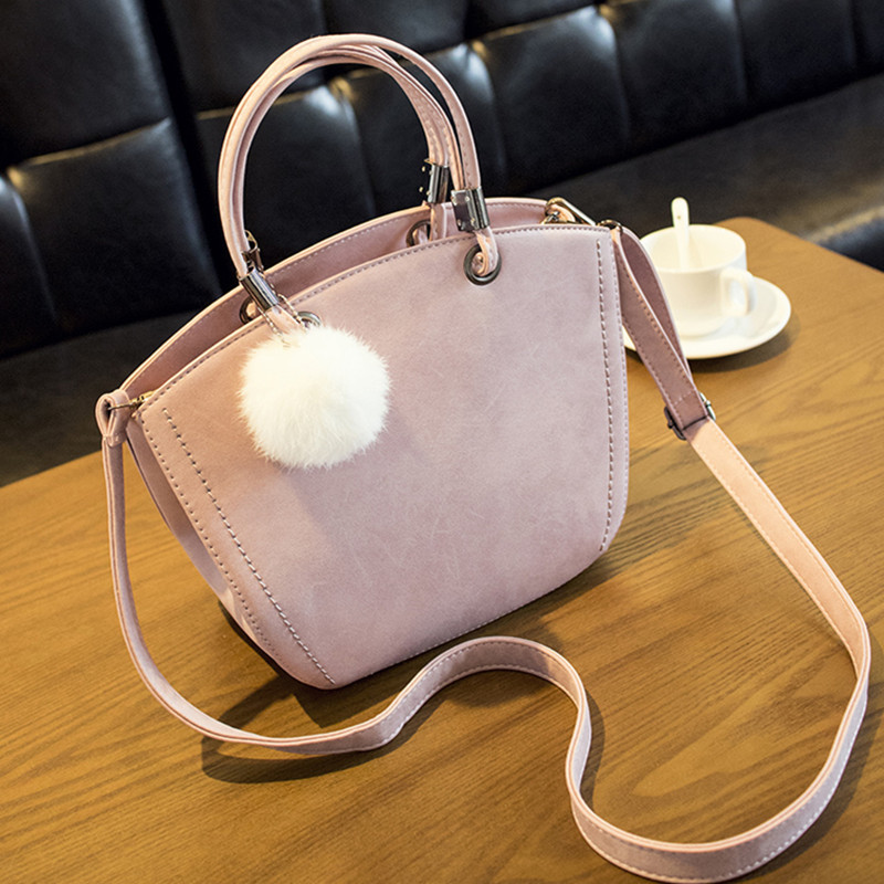 NEW KOREAN VERSION PU WOMEN'S BAG SPECIAL SHOULDER BAG SINGLE SHOULDER TASSEL HAIR BALL HANDBAG FROSTED FASHIONABLE WINGS WALLET special offer wings xx4232 jc korean air hl7630 1 400 b747 8i commercial jetliners plane model hobby