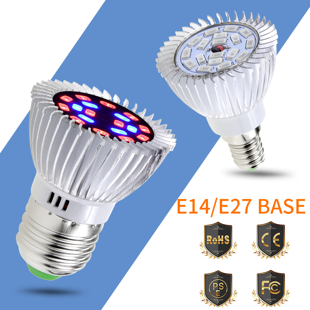 E14 110V Full Spectrum LED AC85-265V Growing Light For Plants E27 220V Lampe Horticole Grow Tent Indoor De Cultivo Led Horticole