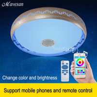 2016 New Dimmable Bluetooth Music LED Ceiling Light With Phone Control Primitive Arylic Boby Ceiling Light