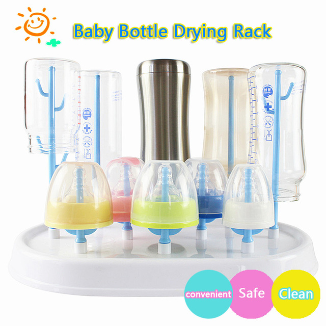Baby Bottle Drying Rack Bottles Baby Bottle Cleaning Dryer Drainer Storage Rack Glass Countertop Drying Rack for Babies Bottles
