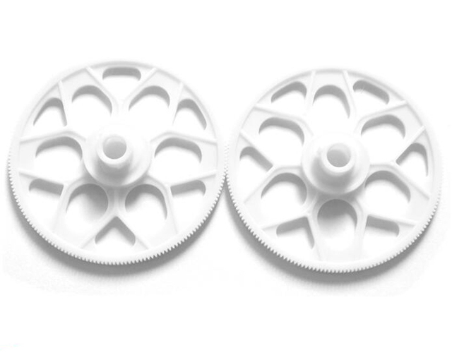 2Pcs/lot Small Gearwheel White Plastic Deputy Gear Accessaries for RC Hobbies