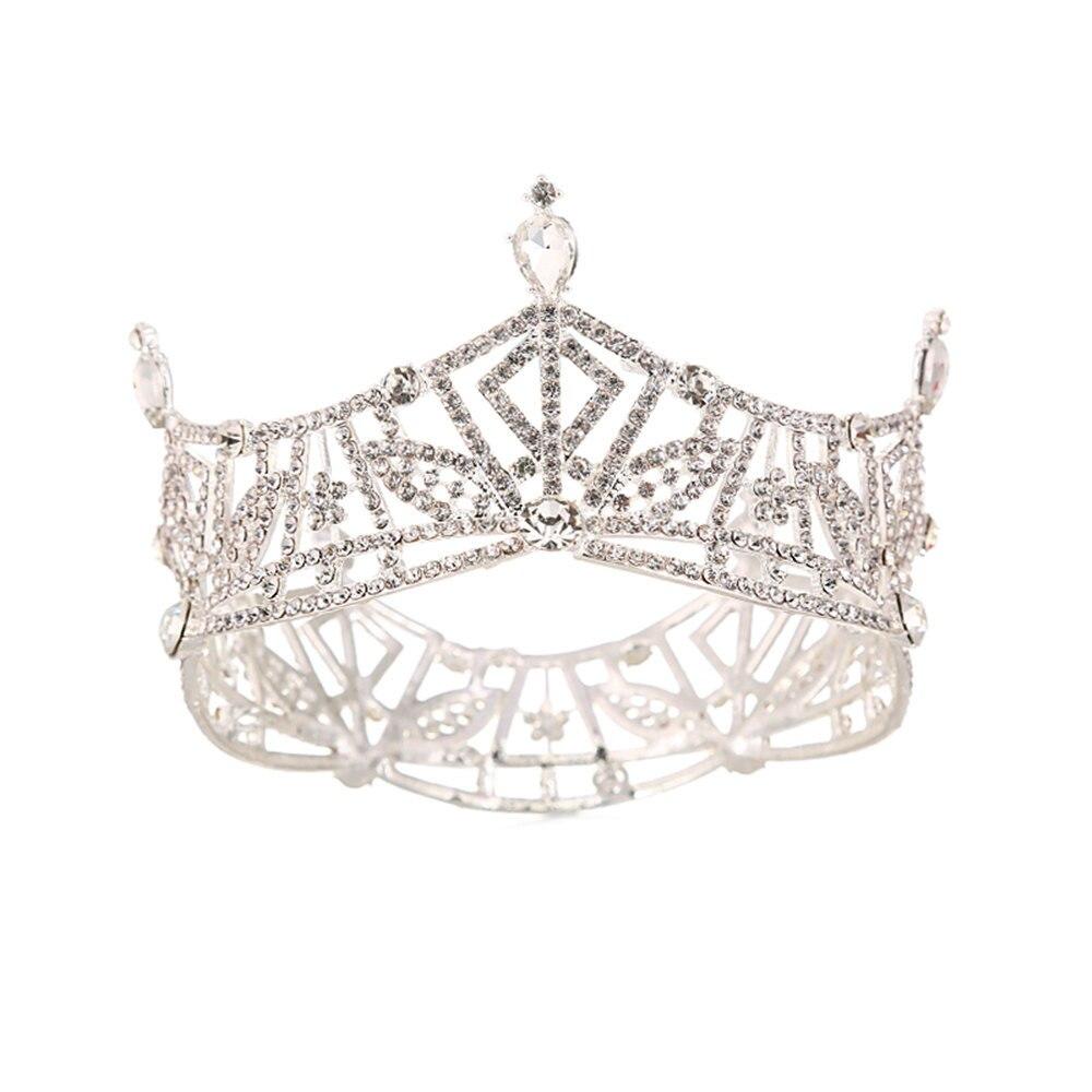 Fashion Children Queen Crown Wedding Tiara Bridal Hair Accessories for Women Wedding Vintage Simple Royal Tiaras and Crowns C108