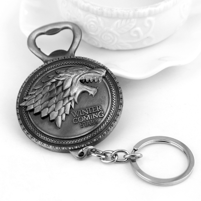 Game Of Thrones House Of Stark Wolf Bottle Opener Pendant & Keychain