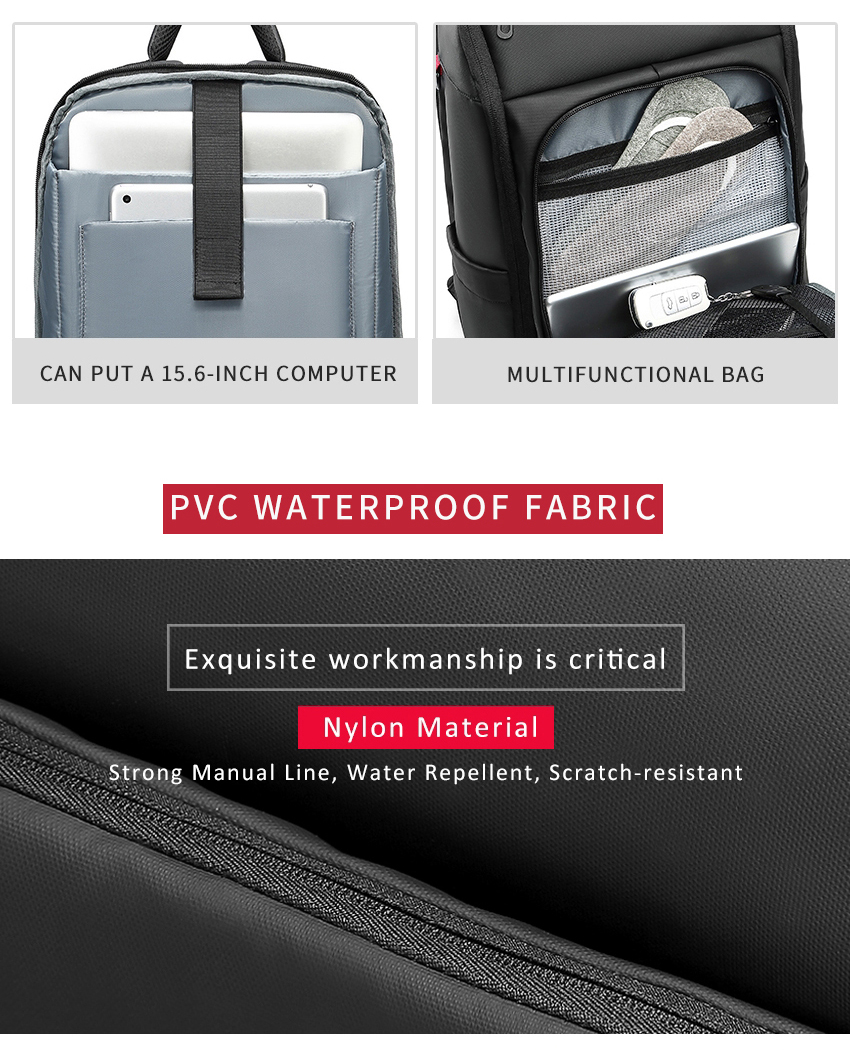 two pictures showing the laptop compartment of a backpack