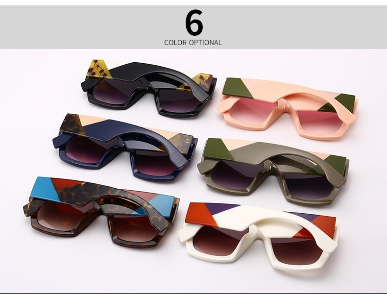 cc772d86c1e14 Mimiyou 2018 Quadrados Mulheres Óculos de Sol Óculos Homens ...