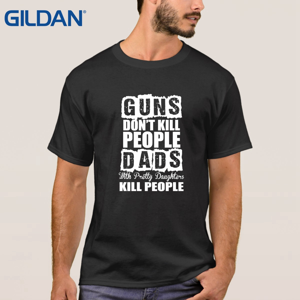 Lover Ali T Shirts Father's Day Gifts Guns Don't Kill People Dads With Pretty Daughters Kill Gift For Father Daddy Dad China