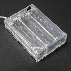 Image 4 - 1 قطع شفافة حالة البطارية حامل مربع مربع بطارية 3xaa 4.5 فولت مع no/off زر التبديل و الأسلاك الرصاص ل aa بطارية قابلة للشحن