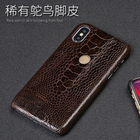 Genuine Ostrich Foot Skin Phone Case For Xiaomi Mi 6 8 A1 A2 Lite Max 2 Mix2S Note 5 Case For Redmi Note 4 4X 5 5A Plus Cover