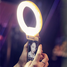 USB Charge LED Selfie Ring Light for iPhone X 8 7 Xs Phone Supplementary Lighting Night