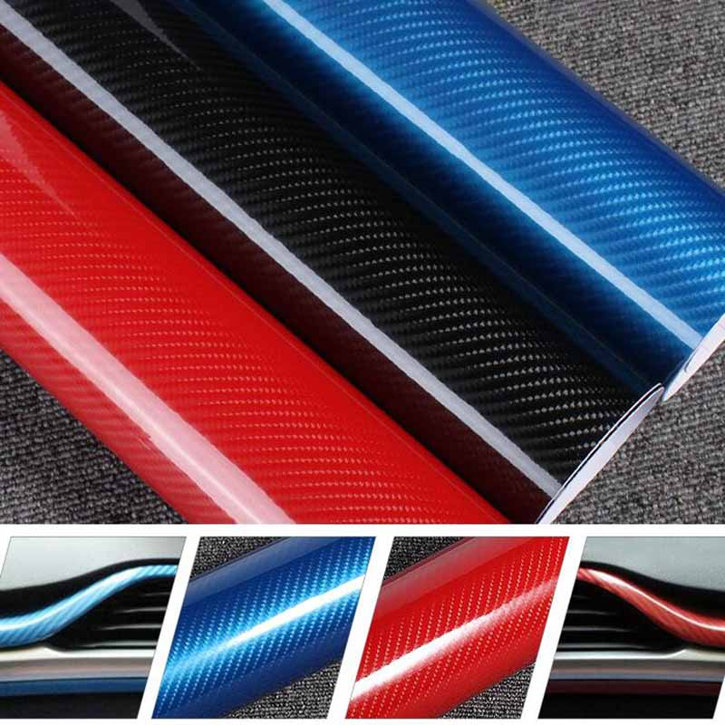 50 200cm 4d vinyl car wrap carbon fiber film 3m sticker waterproof diy car styling for interior. Black Bedroom Furniture Sets. Home Design Ideas
