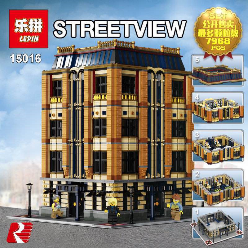 AA Lepin 15016 7968pcs MOC Creative Creators Series The Apple University Set Building Blocks Bricks Toys