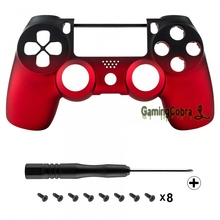 For PS4 Controller Shadow Red Faceplate Cover Front Housing Shell JDM-010 JDM-020 #P4MSF14