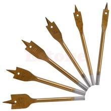Hot Sale New 6pcs/Set Tools Industrial Spade Paddle Flat Wood Boring Drill Bit Apr 09