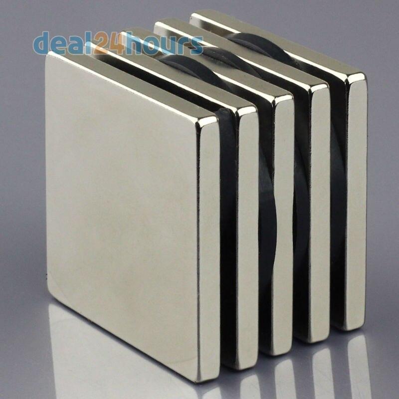 32542848e Omo المغناطيسية 5 قطع n50 سوبر قوي بلوك متوازي المستطيلات مغناطيس  النيوديميوم 50 × 50 × 5 ملليمتر النادرة