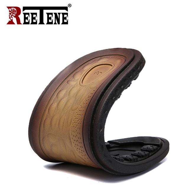 REETENE Hot Sale Men'S Sandals Genuine Leather Men Summer Shoes Leisure Slippers Flip-Flops Men Comfortable Footwear Soft Sandal 2
