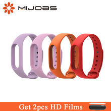 Mijobs Silicone Strap Colorful Mi Band Xiomi Fitness Sport Ձեռքի ժամացույցի ձեռնաշղթա պարագաներ Xiaomi Mi Band 2 Smart Watch- ի համար