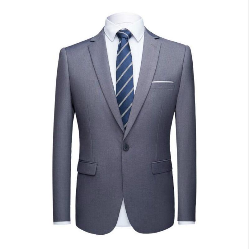 Business décontracté veste habiller les jeunes mariés hommes nouveau costume de couleur unie 2 pièces robe pour hommes-in Costumes from Vêtements homme    2