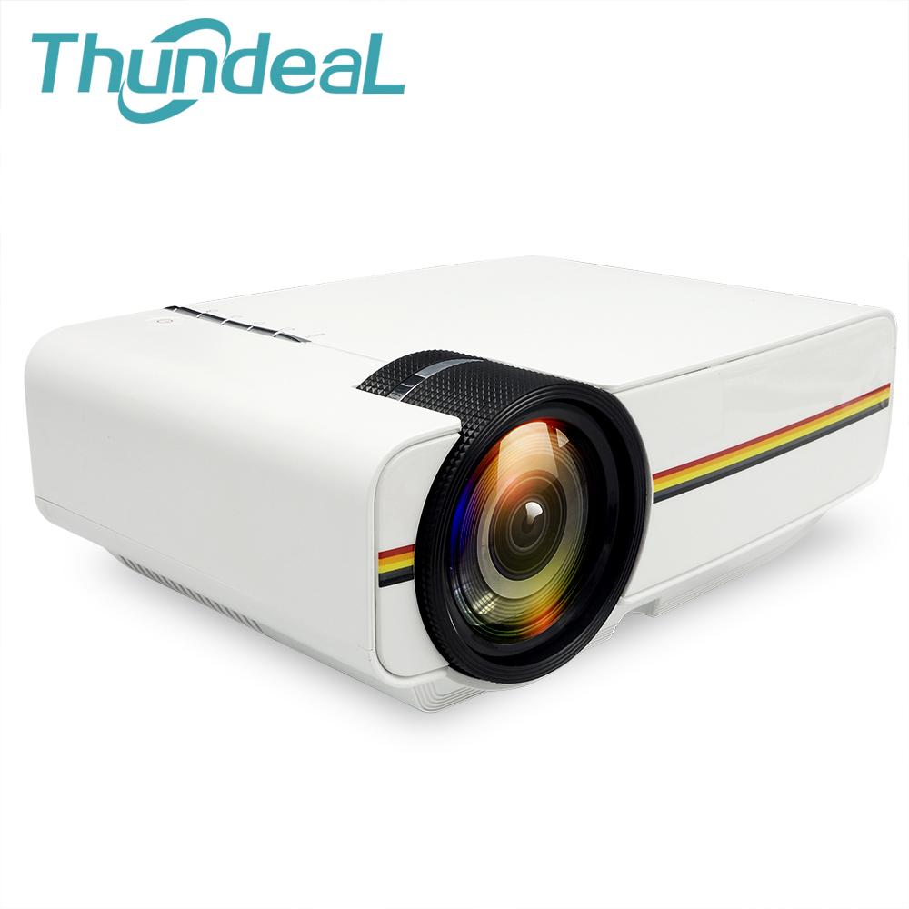 Prix pour ThundeaL YG300 Mise À Niveau YG400 Mini Projecteur Pour Jeux Vidéo TV Beamer projet Home Cinéma Film AC3 HDMI VGA AV SD USB YG-400