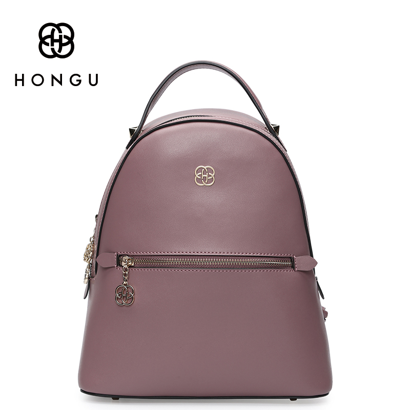 3232c36856a5 HONGU Famous Brands Women Backpack Ladies Shoulder Bags Fashion Leisure  Upscale Genuine Leathe Bag For College Casual Versatile