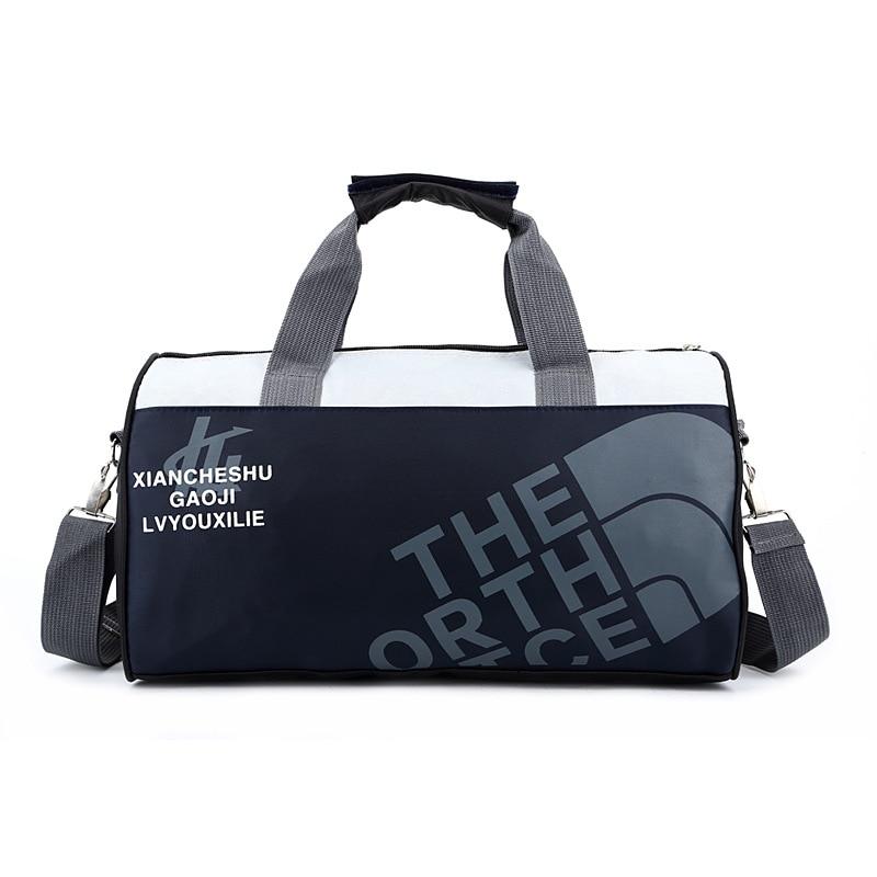 Женская и Мужская спортивная сумка для фитнеса, баскетбола, футбола, тренировок, тренажерного зала, бега, кемпинга, Холщовая Сумка на одно плечо, дорожные спортивные сумки-2