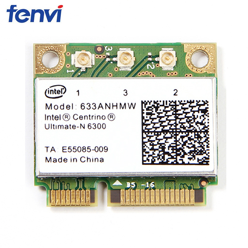 Dual band 450Mbps Mini Half PCI-e Wireless Wifi Card 633ANHMW 6300AGN for Intel 6300 802.1